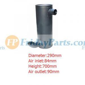 For Hitachi Excavator EX200-5 Engine 6BG1 Muffler Silencer 4332247